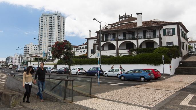 PONTA DELGADA, AZORES/PORTUGAL - CIRCA JUN, 2015: One of streets