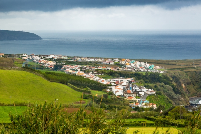 View Of Porto Formoso On Sao Miguel Island, Azores