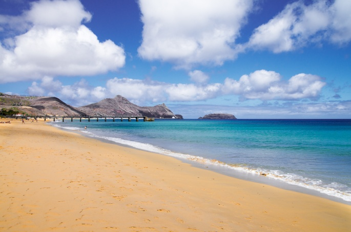 Porto Santo Madeira golden beach