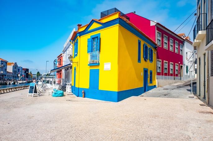 Traditional house facade in Aveiro, Portugal