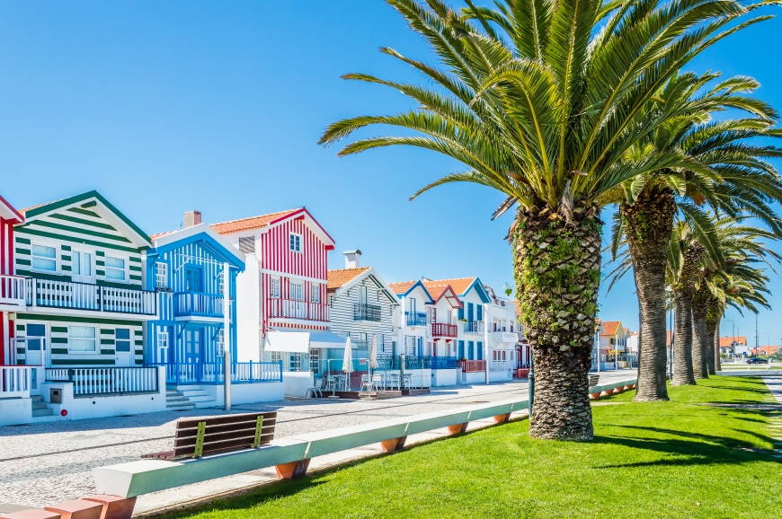 Costa Nova, Portugal: Colorful Striped Houses Called Palheiros W
